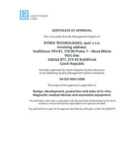 DYNEX TECHNOLOGIES ISO 9001:2008