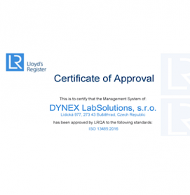 DYNEX LabSolutions ISO 13485:2016